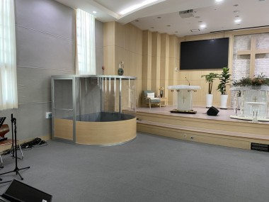 울산순복음초대교회 드럼부스 타입D 라이트 설치